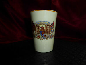 Vintage-Silver-Jubilee-CUP-King-George-V-amp-Queen-Mary-1910-35-Woods-Ivory-Royal