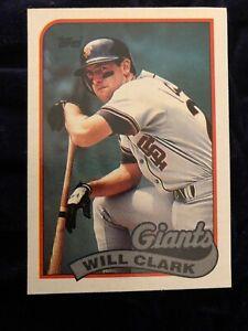 Details About 1989 Topps Will Clark 660 San Francisco Giants Baseball Card Gem Mint