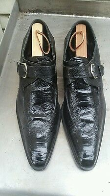 Mauri ITALY  OSTRICH  Skin Loafers Monk Strap Dress Shoes SIZE 8