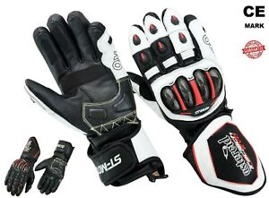 New-Tractech-Evo-Winter-Motorcycle-Motorbike-Gloves-Leather-SPS-Armour-Racing-CE