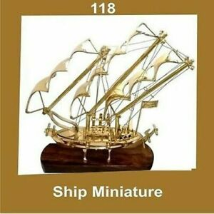 New-Vintage-Miniature-Model-Ship-Brass-Nautical