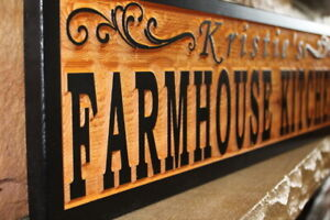 Details About Custom Farmhouse Kitchen Sign Wood Personalized Rustic Home Decor Country Signs