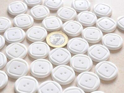 """lot de 5 boutons ovale /"""" blanc crème  /"""" 17mm X 22mm mercerie couture button"""