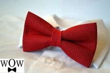 "Trabucco red black dots 2 layer tweed pre-tied ""Wow bow ties"" bow tie"
