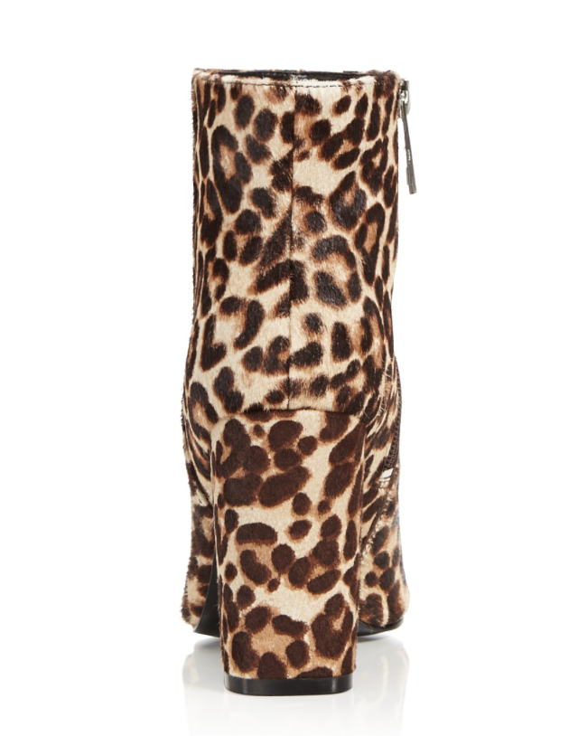 Charles David Studio Leopard Print Women's Brown Calf Hair * Bootie Sz 9.5 2813 * Hair 50401f