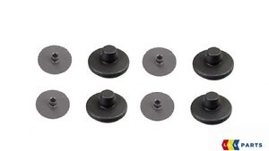 NEW-GENUINE-VW-FLOOR-MAT-FASTENER-CLIPS-CARPET-BRACKET-COVERS-4-4-PCS-BLACK