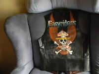 Vintage black Leather Harley Davidson Motorcycle   (Easy Riders) VEST VERY NIC