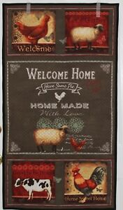 Welcome-Home-Wallhanging-Quilt-Roosters-Cow-Sheep-Home-Sweet-Home