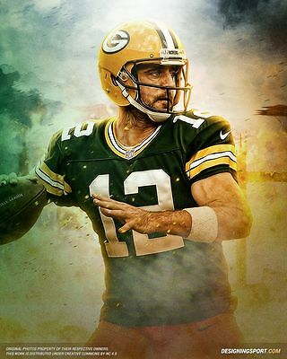 24 inch by 36 inch AAA AARON RODGERS NFL Football Photo Poster