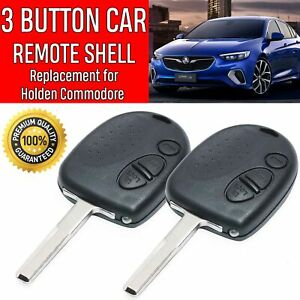 2X-Holden-Commodore-3-Button-Car-Remote-Case-Shell-Uncut-Key-VS-VX-VY-VZ-WH-WK