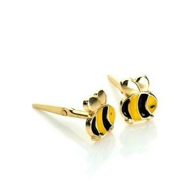 Gift box included 9ct yellow gold bumblebee Andralok stud earrings