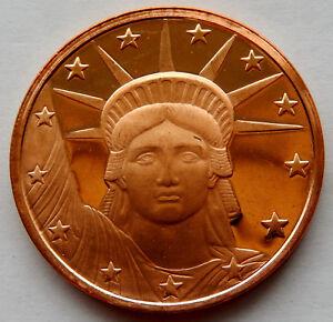 2012 Statue of Liberty 1 oz Copper Round Coin SB5197