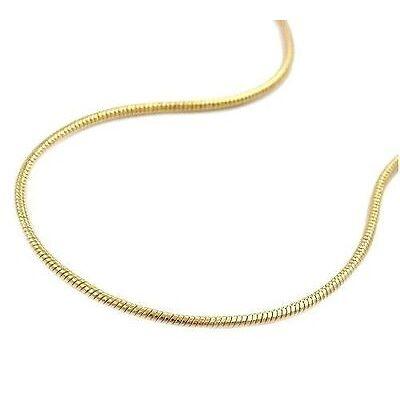 Collier Schlangenkette 585 Gold von Ø 1,0mm bis 2,4mm Kette L36-70cm (11)