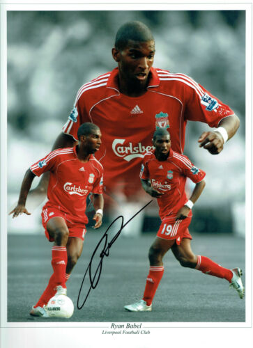 Ryan BABEL Signed Autograph 16x12 LIVERPOOL RARE Montage Photo AFTAL COA
