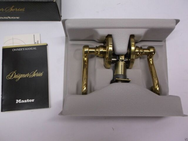 MasterLock Right Hand Bed/Bath, Bright Brass