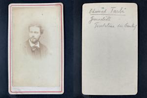 Edmond-Joseph-Louis Tarbé des Sablons, journaliste Vintage cdv albumen print.E