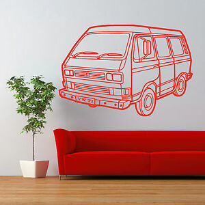 Vw Quote Extraordinary Vw T3 Vw Camper Van Transporter Van Car Vinyl Wall Art Sticker