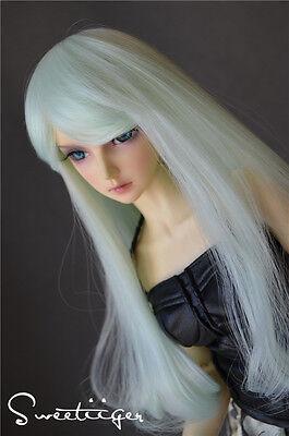 "【Tii】8-9"" 1/3 BJD Hair IP SD doll wig Super Dollfie mint fantasy curly long"