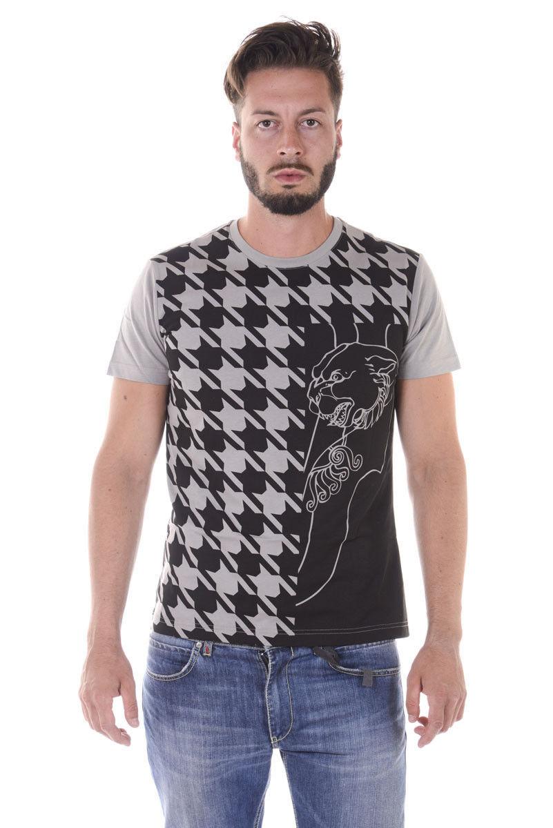 T shirt Maglietta Versace Jeans Sweatshirt SLIM Cotone  Herren Grigio B3GQA712 837