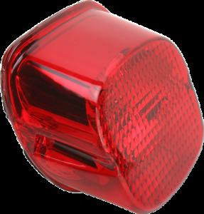Drag Specialties Laydown Taillight Lens with Bottom Tag Window 2010-0777 Smoke