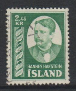 Iceland - 1954, 2k45 Hafstein stamp - F/U - SG 326 (b)