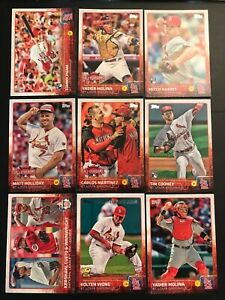 2015-Topps-ST-LOUIS-CARDINALS-Complete-Team-Set-Series-1-amp-2-Update-42-Cards