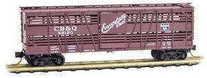 CB-amp-Q-Burlington-40-039-Despatch-Stock-Car-MTL-035-00-130-Micro-Trains-N-Scale