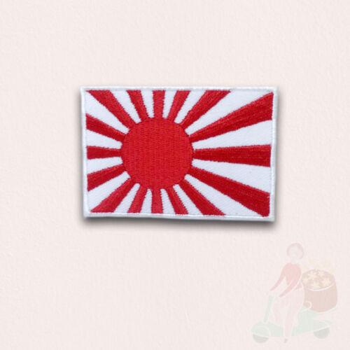 Bandera japonesa de Sol naciente Hierro en Coser Parche Bordado