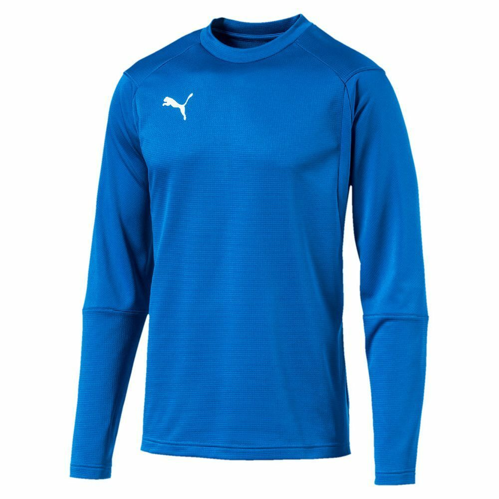Puma Kids Sports Football Soccer LIGA Training Sweatshirt Long Sleeve Top bluee