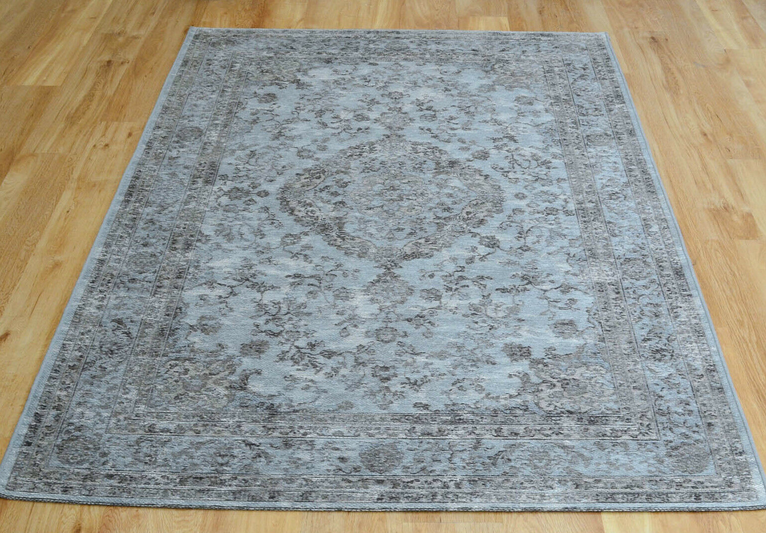 Vintage Blau grau Traditional Persian Medallion Style Cotton Cotton Cotton Chenille Rug 30% OF fbdf44