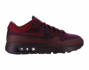 separation shoes 7707d 06bc5 Details about Mens Nike Air Max 1 Ultra Flyknit Deep Burgundy Grand Purple  Team Red 856958-566