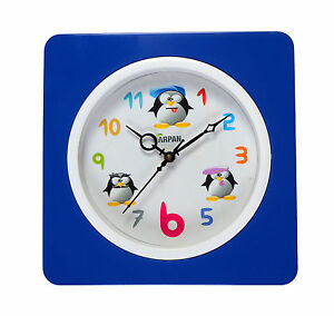 Wall-Clock-Vintage-Modern-Home-Bedroom-Quartz-22-5cm-Blue
