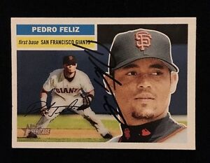 PEDRO-FELIZ-2005-TOPPS-Autograph-Signed-AUTO-Baseball-Card-256-GIANTS