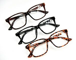 3bfada3b4d Details about Bifocal Fashion Geek Nerd Unisex Stylish Reading Glasses in 3  Colours DX2
