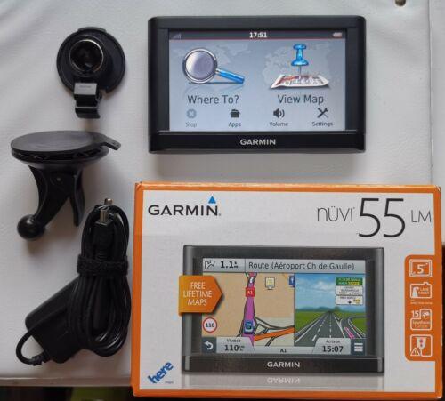 """GPS SAT NAV más recientes de África del Sur 5/"""" Garmin Nüvi 55LM Reino Unido y Europa Occidental De Por Vida"""
