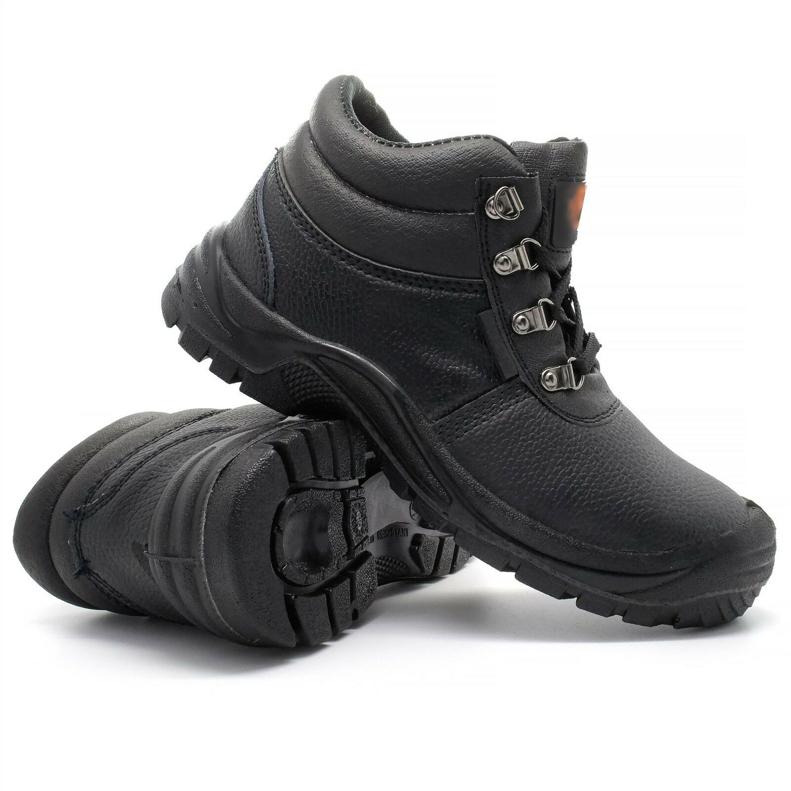 New Mens Safety Toe Work Boots Ankle Shoes Lightweight Steel Toe Safety Cap Leather 6f2eb2