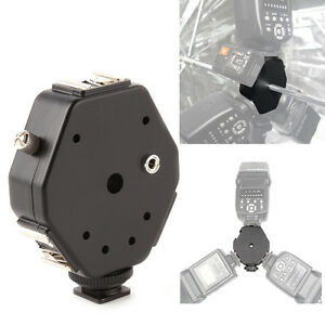 Triple-3-Head-Hot-Shoe-Mount-3-in-1-Adapter-Speedlite-Flash-Light-Holder-Bracket