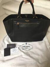abe93900e9c2 EUC NERO PRADA BN2324 Soft Calf Tote Handbag 100 Authentic for sale ...