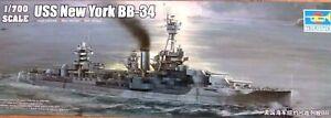 Trumpeter 1:700 USS NEW YORK BB-34 Cuirassé Model Kit