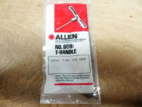 """7//64/"""" ALLEN 78006 T-HANDLE 4G5-017 HEX #609"""