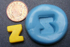 """Reusable Letter """"Z"""" Silicone Food Safe Mould, Mold, Sugarcraft, Jewellery, Cake"""