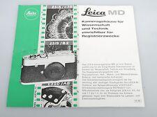 Leica MD Faltblatt Leitz wetzlar