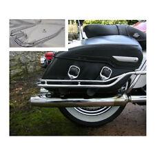 Used Nostalgic Saddlebag Guard Rails /'98-08 Harley Davidson Road King Classic