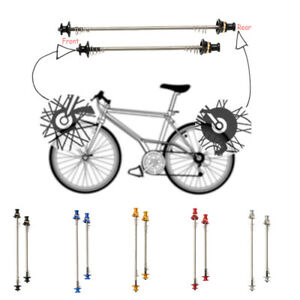 Black,Red,Blue,Gold 1Pair Stainless Steel Bicycle Wheel Skewer Road Bike MTB Quick Release Axle Bolt