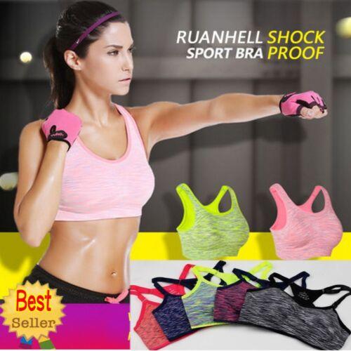 Seamless Women Yoga Fitness Workout Tank Top Racerback Stretch Padded Sports Bra