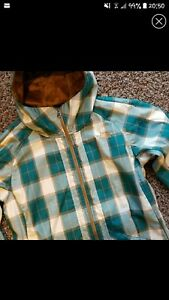 Fleece Jacket Kvinders Size Plaid Lined Northface Small qwtO7x