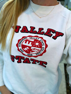 Vintage-California-State-University-Northridge-Sweatshirt-Size-M-White-CSUN-Rare