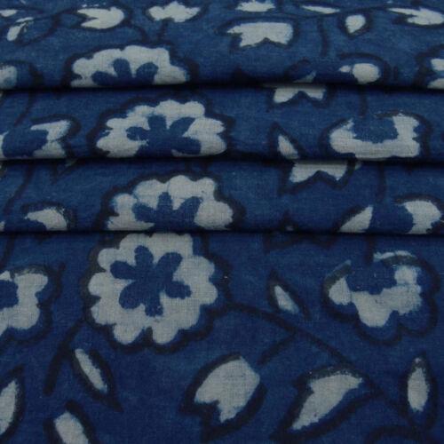 By one yards hand block print fabric Indian cotton dress Fabric Natural dabu P