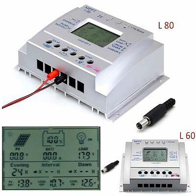 LCD 60A/80A MPPT Solar Panel Battery Regulator Charge Controllers CE 12V/24V TL