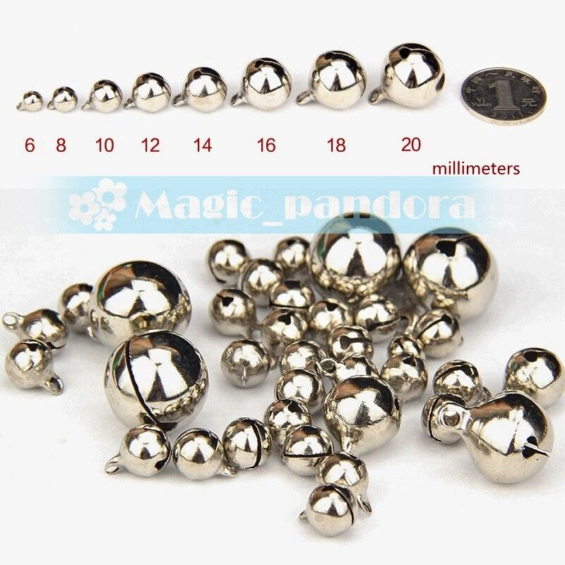 Mixed Colour Christmas Jingle Bells Charm Jewellery Beads 8mm 10mm 12mm 15//20mm